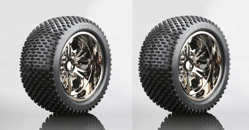 CEN V-Profil Reifen auf Felge (fertig verklebt, 1 Paar)