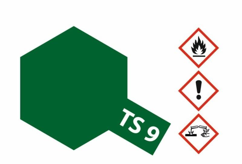 Tamiya Acryl-Sprühfarbe TS-9 Britisch-Grün glänzend 100ml