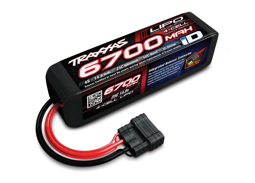 Traxxas Lipo 6700mAh 14,8V 4-Zellen 50C mit ID-Stecker