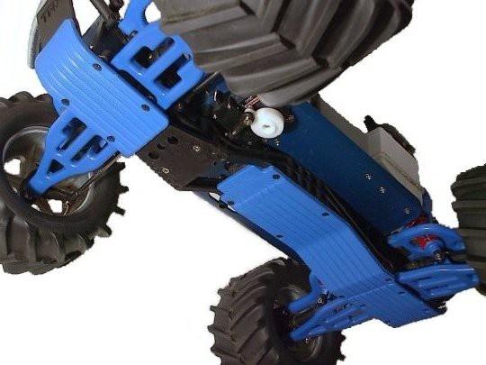 RPM T-Maxx & E-Maxx Three Pc. Skid / Wear Plate Set (Blue)