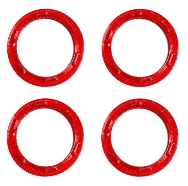 JS-Parts Felgenringe ultraflex für Traxxas Maxx rot