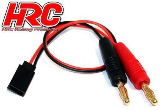 HRC Racing Ladekabel - Gold - Banana Plug zu Empfängerakku