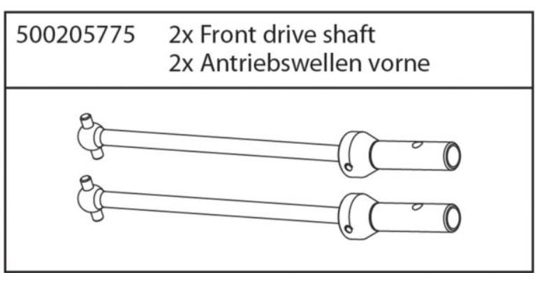 Carson X8 Specter Antriebswellen vorne