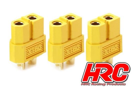 HRC Racing Stecker - Gold - XT60 - weibchen (3 Stk.)