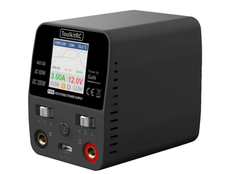 ToolKitRC P200 GaN Technologie Netzteil AC 100W DC 200W