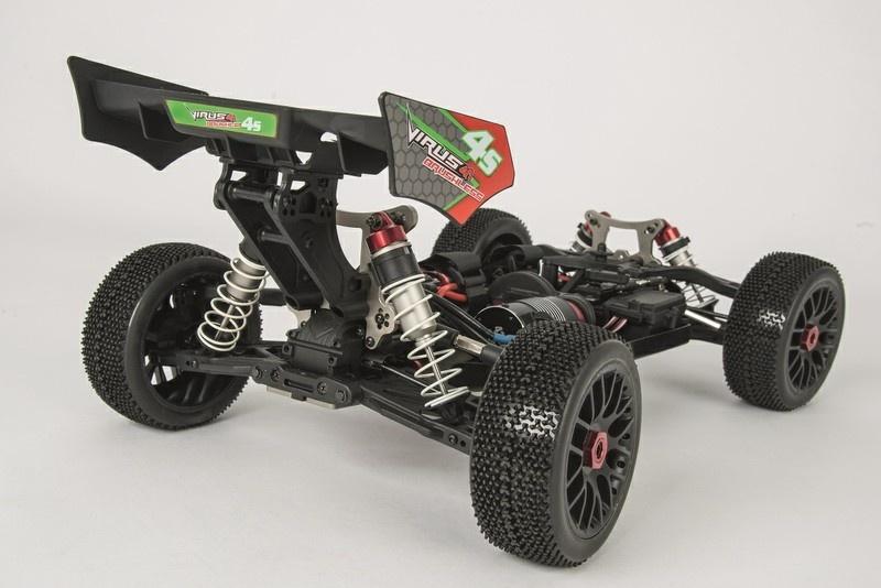 Carson 1:8 4WD Virus 4.1 Buggy 500801020 Heckspoiler Beklebt CV3®