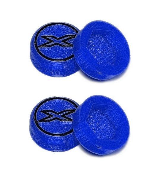 JS-Parts Radnaben-Abdeckung X blau 1/8 17mm