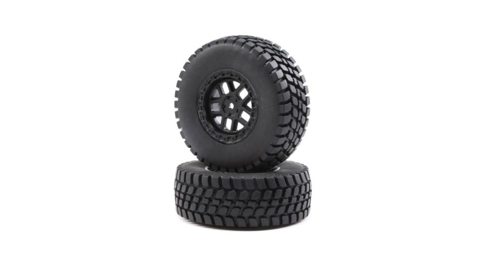 Losi Alpine Wheel and Tire Mounted (2): BR (LOS43025)