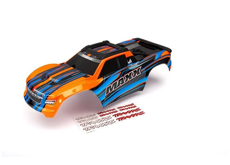 Traxxas Karo MAXX orange lackiert + Decal Sheet TRAXXAS