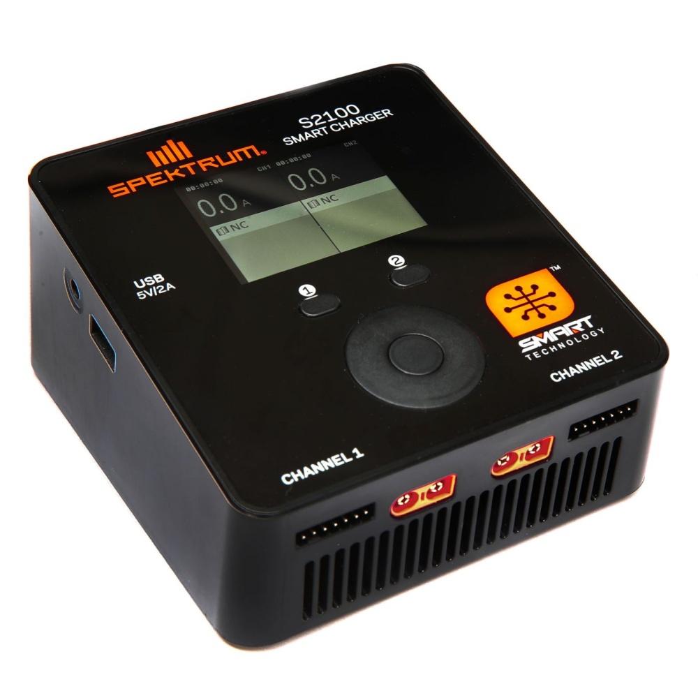 Spektrum Smart S2100 AC Charger, 2x100W (EU Plug) (SPMXC1010