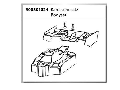 Carson Karosseriesatz/Body Set Virus Rocket 120 2.4GHz