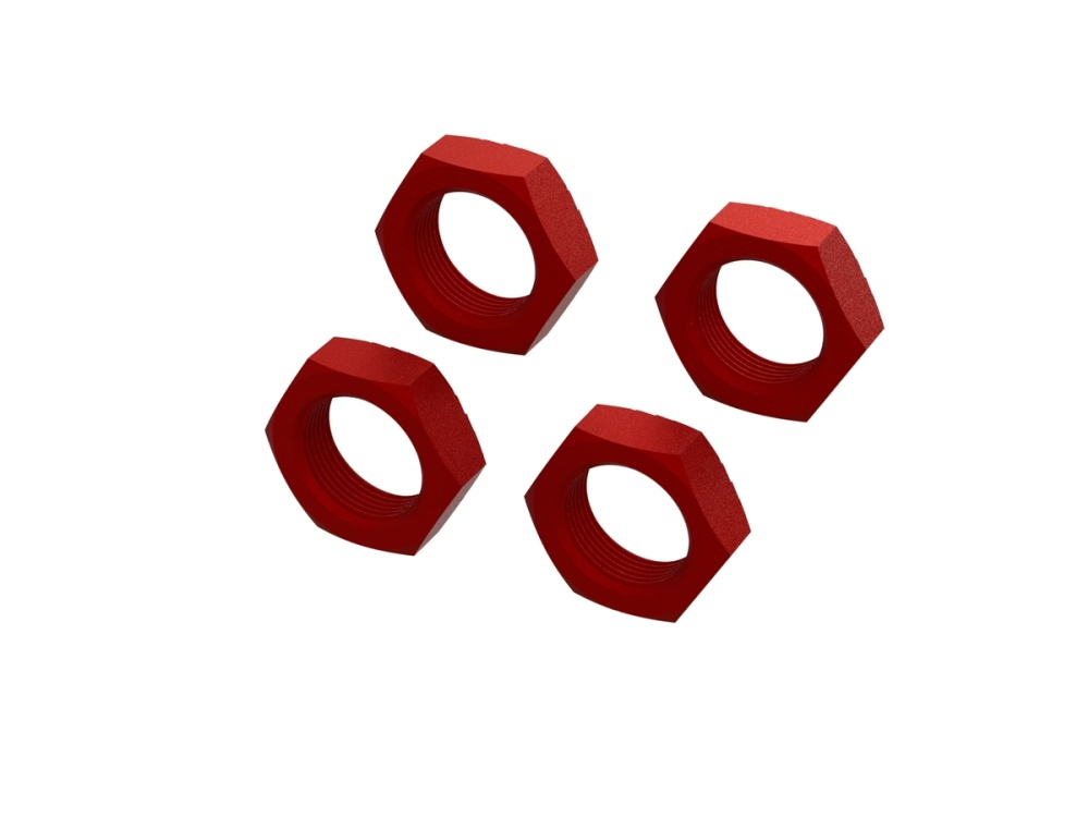 Arrma Aluminum Wheel Nut 24mm (Red) (4) (ARA310929)