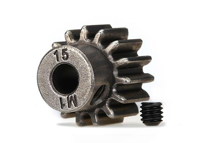 Traxxas Zahnrad, 15-T Ritzel (1.0 Modul) 5mm Welle für Stahl