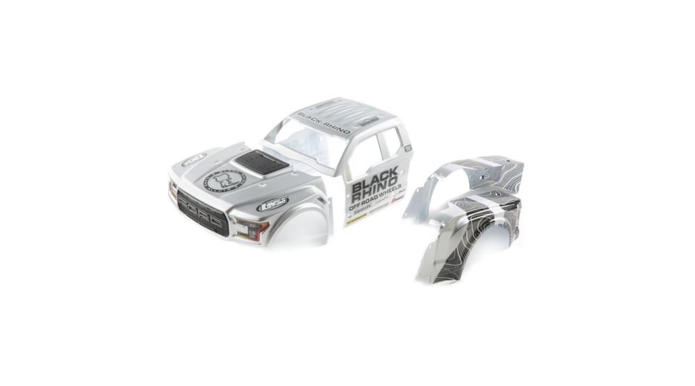 Losi Black Rhino Wheels Ford Raptor Body Set: Baja Rey