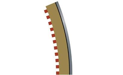 Auslauf - Scalextric SPORT Randstreifen Kurve R4 aus. 22,5
