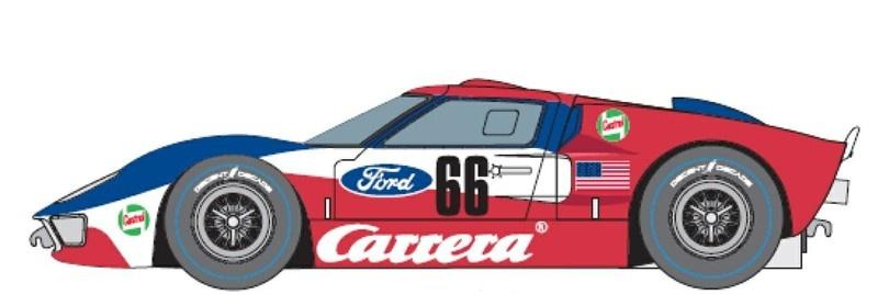 Carrera Digital 124 Ford GT40 MKII Time Twist