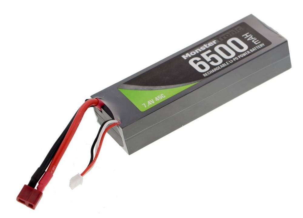 Monstertronic Akku LiPo 7.4V 6500mAh T-Plug Stecker Hardcase