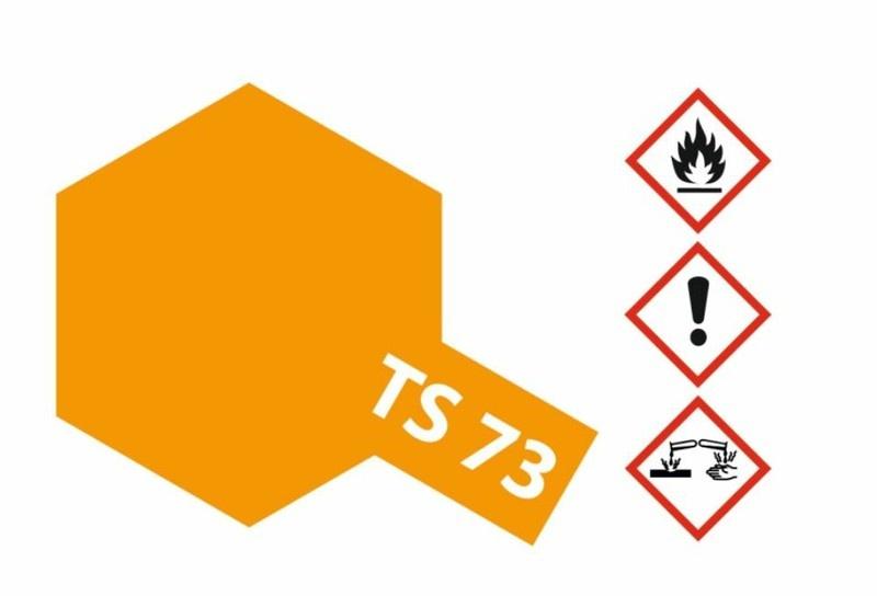 Tamiya Acryl-Sprühfarbe TS-73 Orange Transparent/Klar