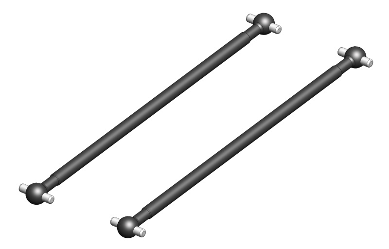 Team Corally Drive Shaft - Rear - Steel - 2 Pcs
