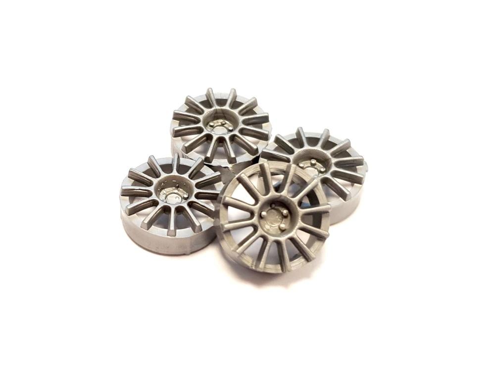 NSR Hubcap 17/Felgeneinsätze 12 Spokes Silver (4)