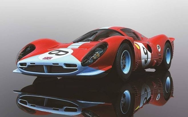 Scalextric 1:32 Ferrari 412P No.9 - Brands Hatch 1967