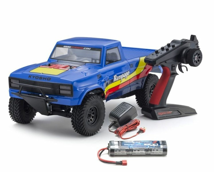 Kyosho Outlaw Rampage EP 2WD Truck (KT231P)T2 Blau RTR 1:10