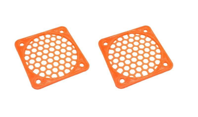 JS-Parts Lüftergitter 50mm / 2 Stück (Set) orange