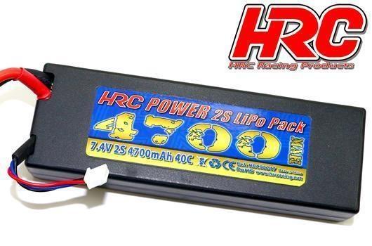 HRC Racing Akku - LiPo 2S - 7.4V 4700mAh 40C - RC Car -
