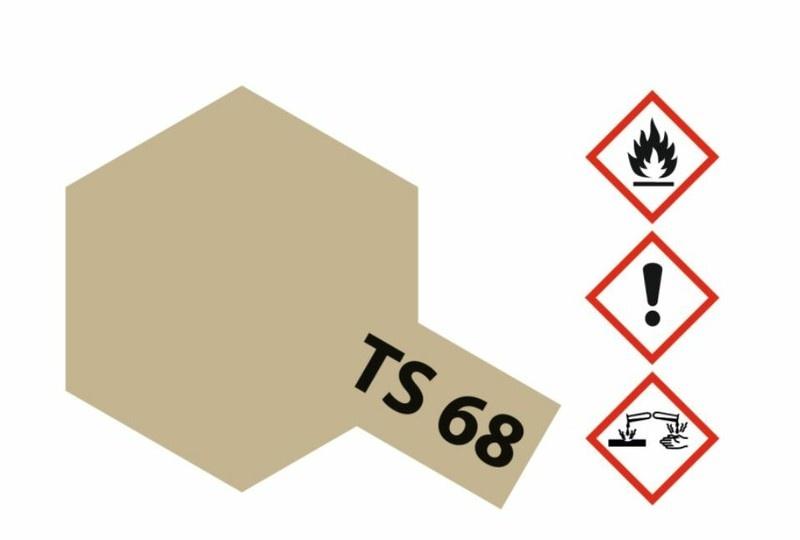 Tamiya Acryl-Sprühfarbe TS-68 Holzdeck Hellbraun matt 100ml
