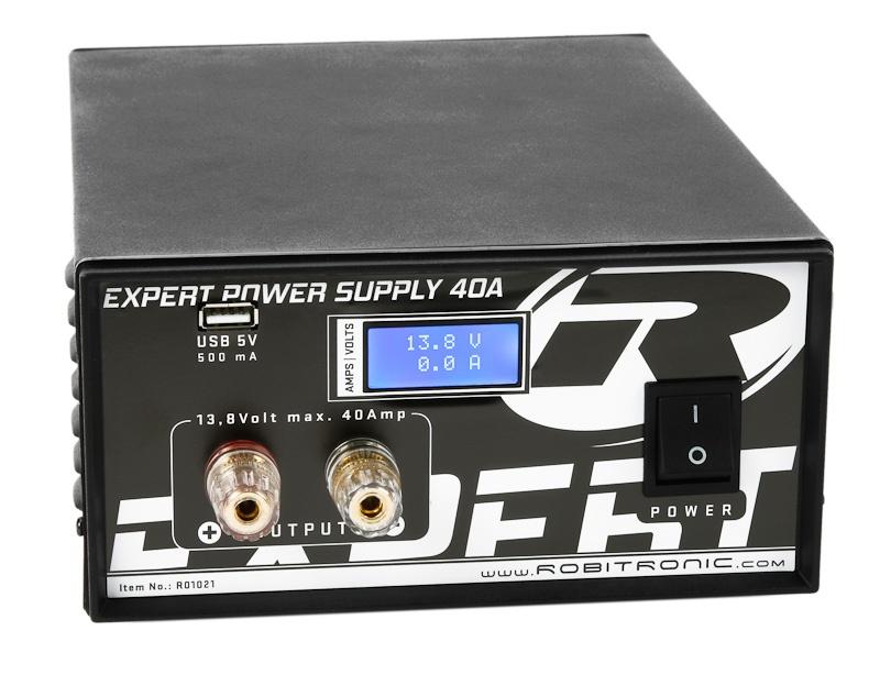 Robitronic Expert Schaltnetzteil 40A mit LCD & USB