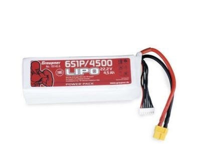 Graupner Power Pack LiPo 6S / 4500 mAh, 22,2 V, 70 C, XT-60
