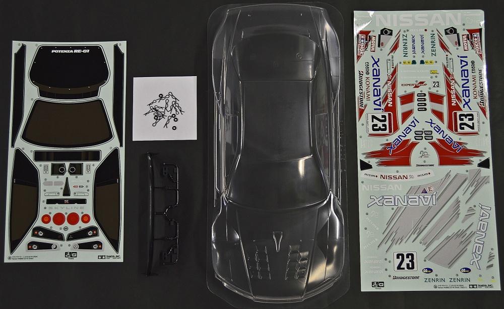 Tamiya Karosserie-Satz Xanavi NiSMO GT-R JGTC unlackiert