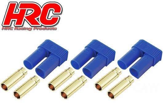 HRC Racing Stecker - Gold - EC5 - weibchen (3 Stk.)