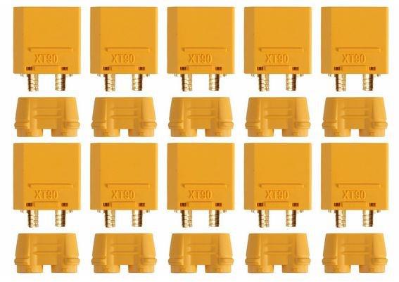 Goldkontakt XT90-S, 10 Stecker