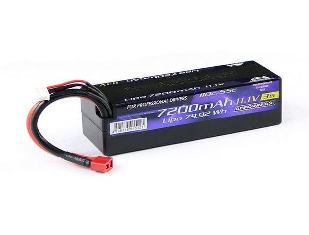Arrowmax LiPo 7200mAh 3S - 11.1V 55C Continuos 110C Burst