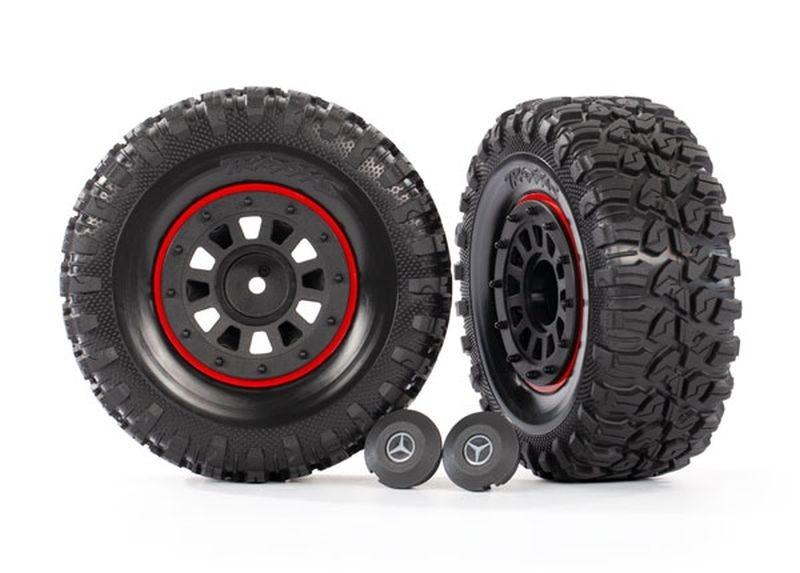 Traxxas Reifen auf Felgen schwarz (2)