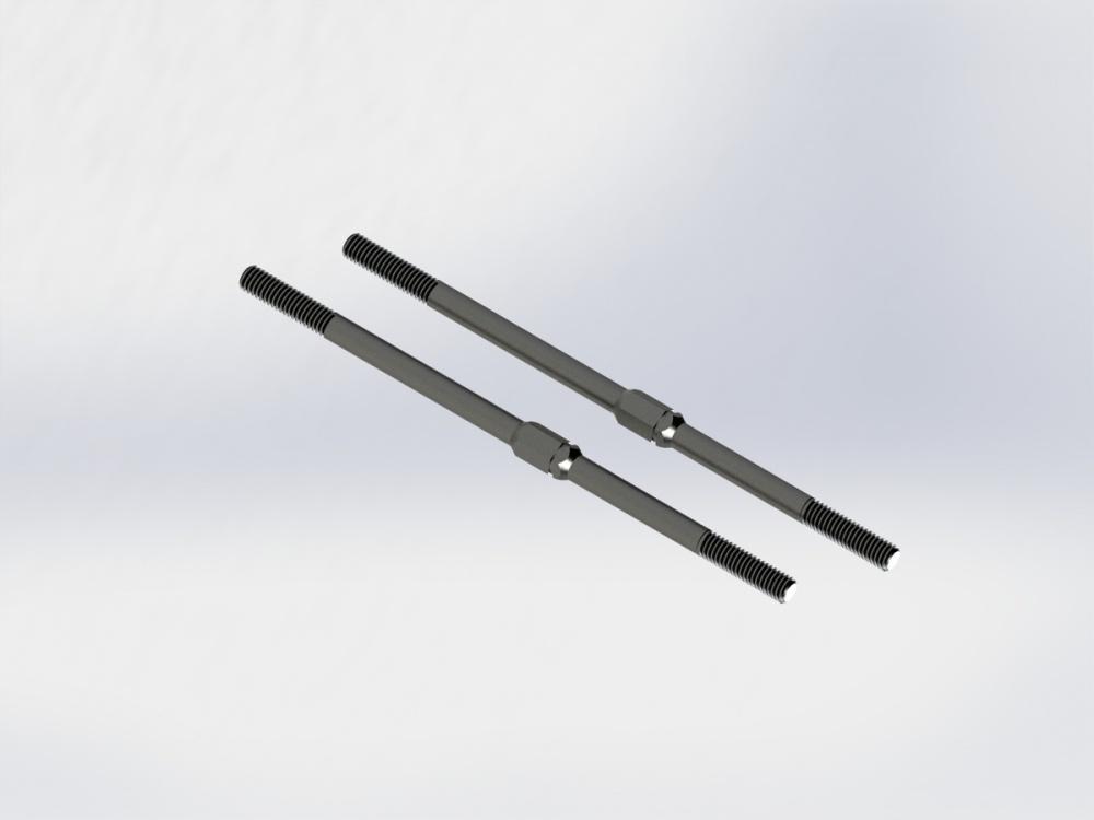 Arrma RC Arrma RC Stahl Spurstangen M4x95mm schwarz, 2 St.