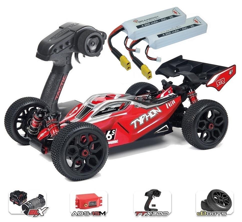 ARRMA TYPHON 6Sv2 BLX 4WD Race Buggy 1/8 RTR - SPARSET1 -