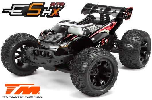 Team Magic E5 HX 4WD Monster Truck Schwarz/Rot Brushless