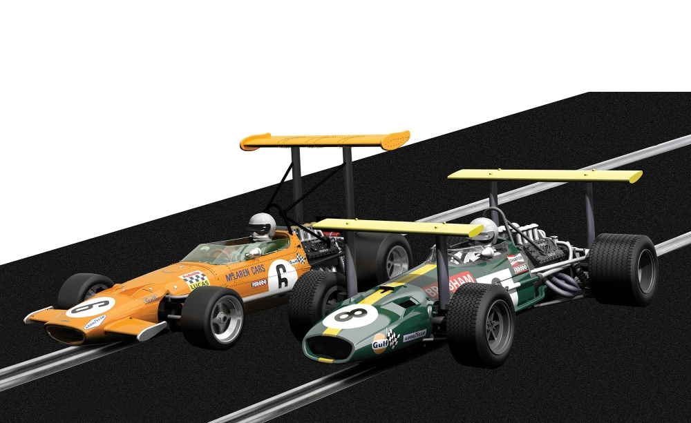 Scalextric Winged Legends - Brabham BT26A / McLaren M7C