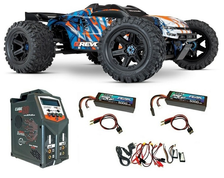 Traxxas E-Revo VXL 4WD Elektro MT BL blau/orange Version2018