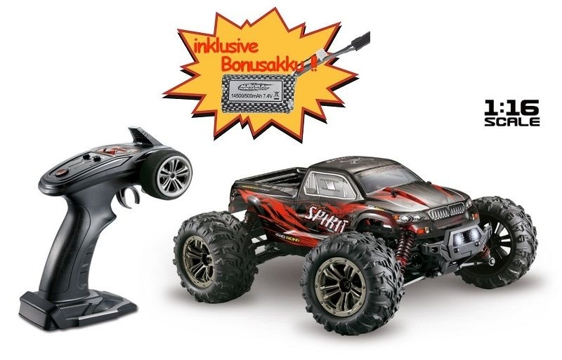 Absima High Speed Monster Truck SPIRIT schwarz/rot