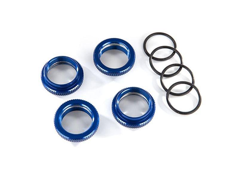 Traxxas Federteller Alu blau GT-Maxx (4) (mit O-Ring)