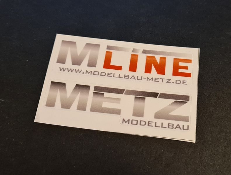 MLine/Metz Karosserieaufkleber transparent 70x20mm