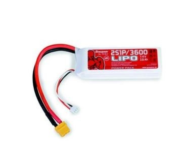 Graupner Power Pack LiPo 2S / 3600 mAh, 7,4 V, 40 C, XT-60