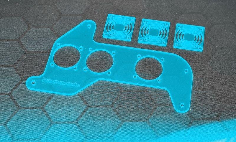 JS-Parts Lüfterhalter-Set für Traxxas Maxx Plexiglas