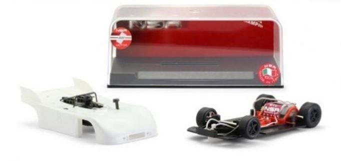 NSR 1/32, Porsche 908/3, White Body Kit Double Fin Clear