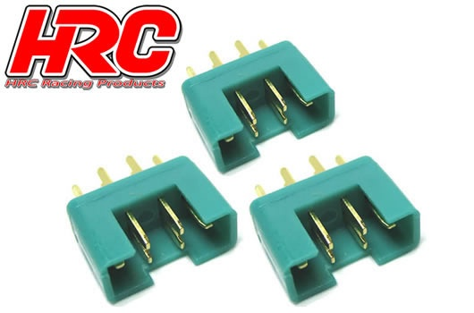 HRC Racing Stecker - Gold - MPX - männchen (3 Stk.)