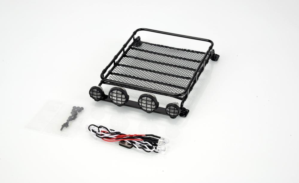 Carson Dachgepäckträger Vollmetall mit 4-fach Scheinwerfer,