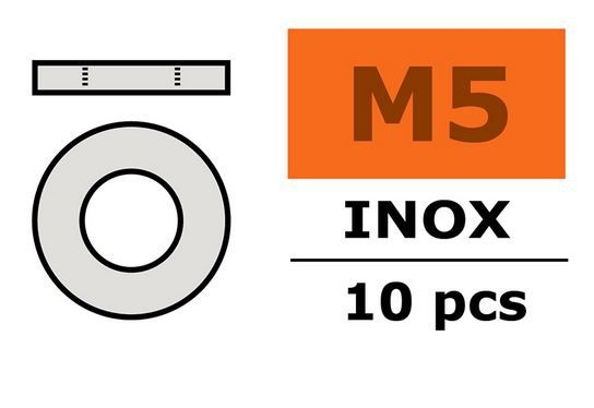 G-Force RC - Washer - M5 - Inox (10)